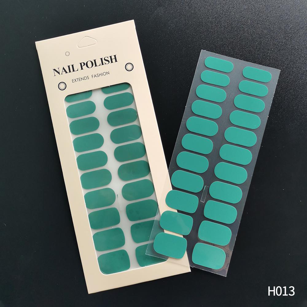 简约22贴纯色甲油膜 跨境指甲贴全贴 马卡龙单色美甲贴纸