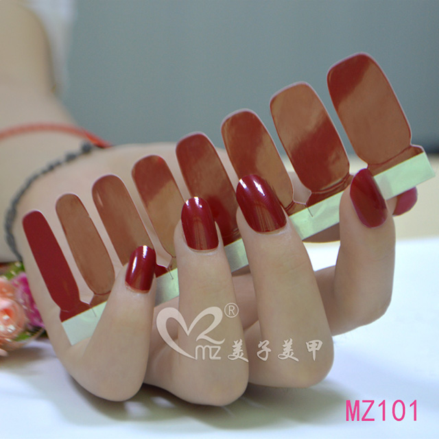 Simple pure color nail polish stickers rendering