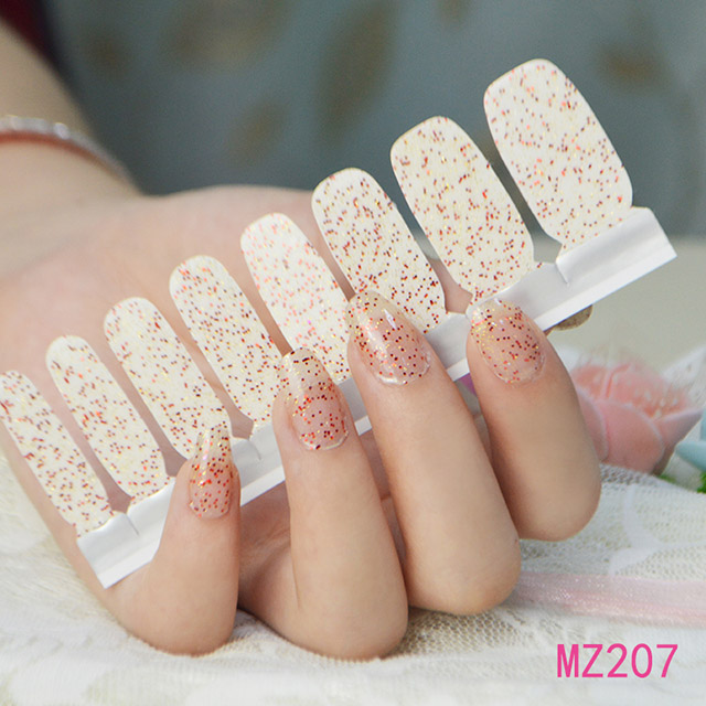 Nail polish sticker nail effect pictures