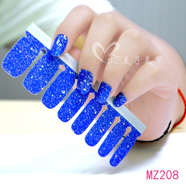 Effect of blue nail polish sticker nail art images