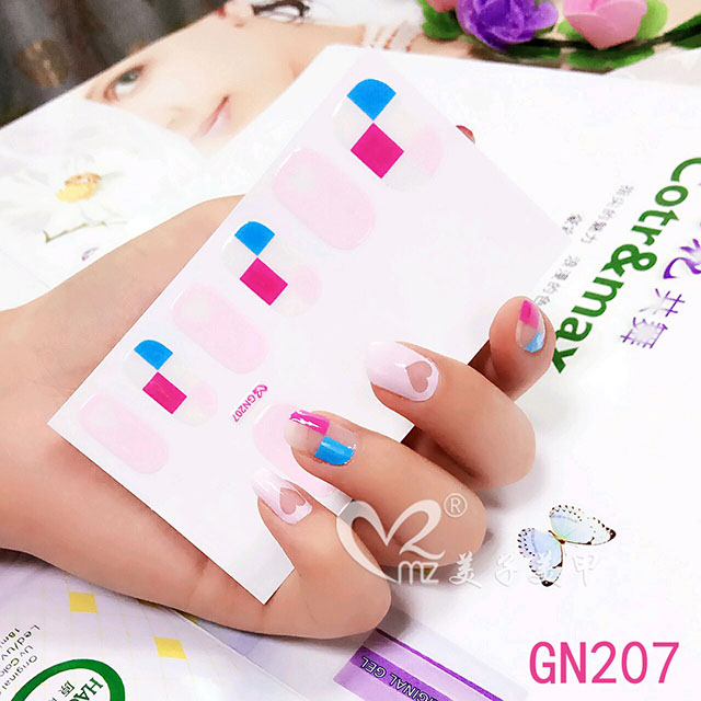 Heart-shaped gel nail stickers