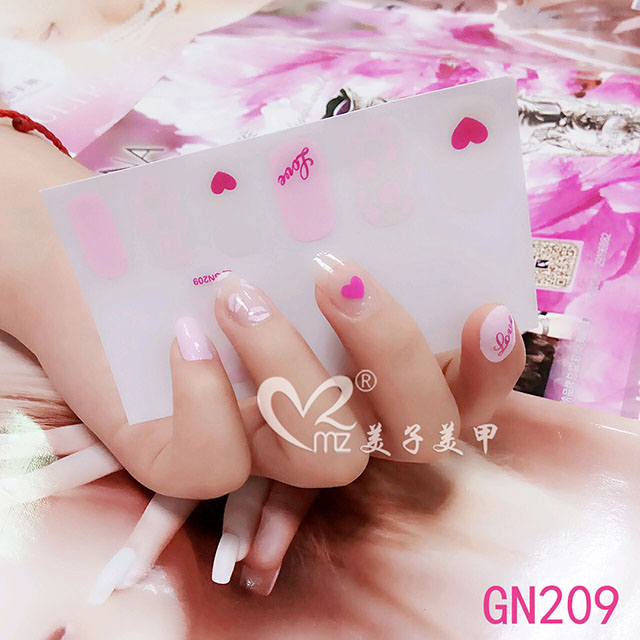 love gel nail stickers
