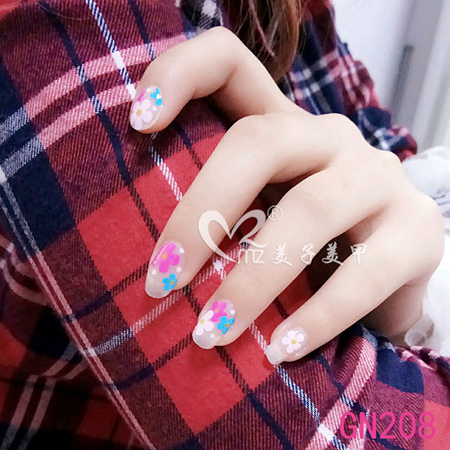The cherry blossom gel nail stickers