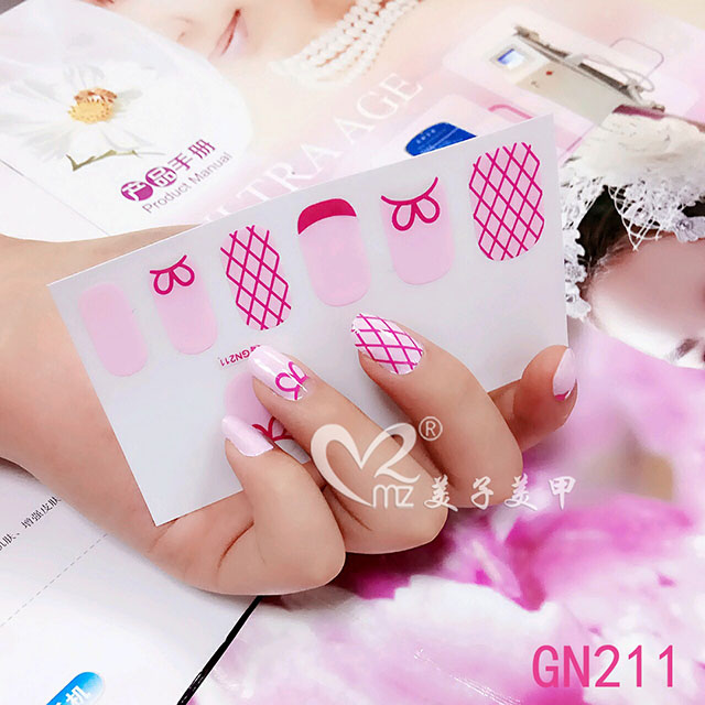 Plover case gel nail stickers