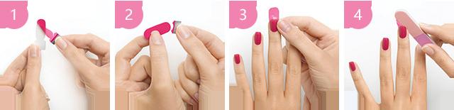 指甲贴使用方法