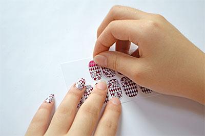 Choose nail sticker