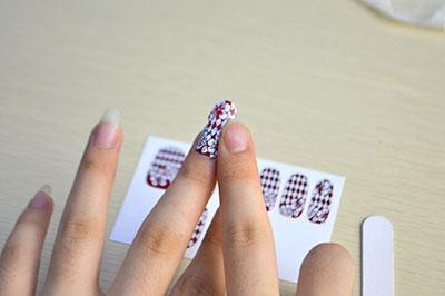 Press nail sticker