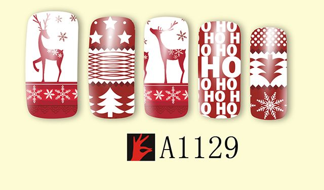 English letters Christmas nail stick pictures
