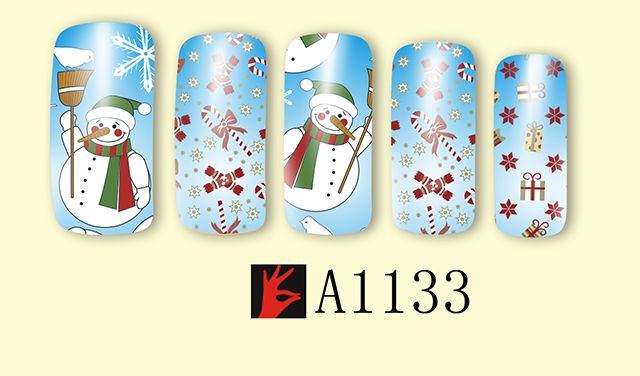 Christmas snowman nails posted pictures