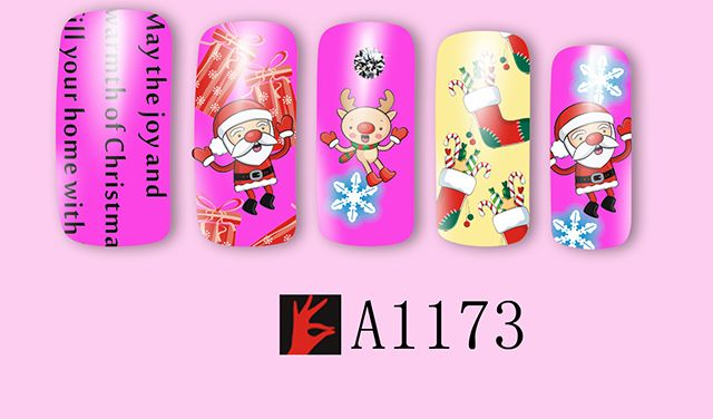 Christmas cartoon nail pictures