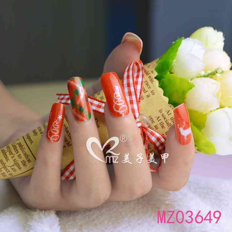 Red Christmas nail stickers