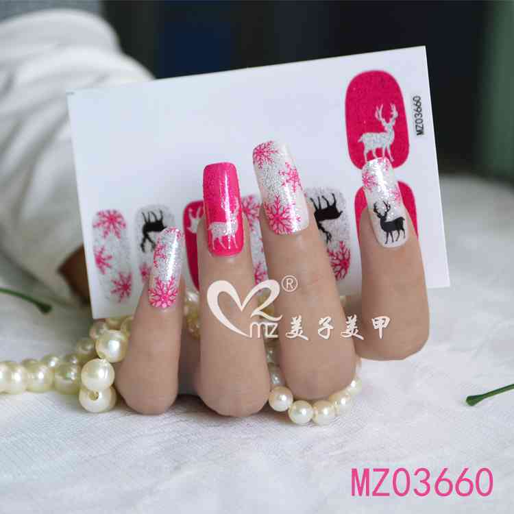 Popular style Christmas nail stickers
