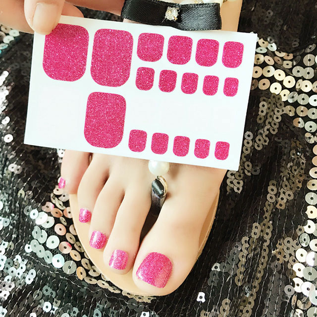 Glitter Toe Nail Stickers