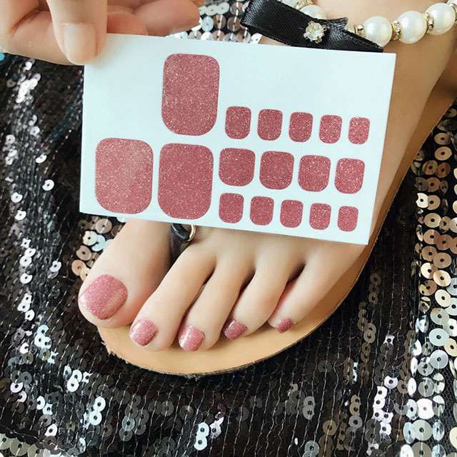 Glitter Toe Nail Stickers Custom