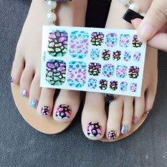 好看的脚指甲美甲贴厂家_好看的脚指甲美甲图片